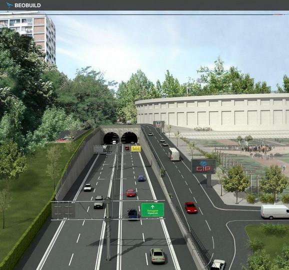 Tunel kod stadiona Partizana