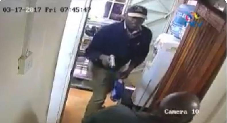 File image of a screengrab images of daring daylight robbery caught on camera in Uthiru