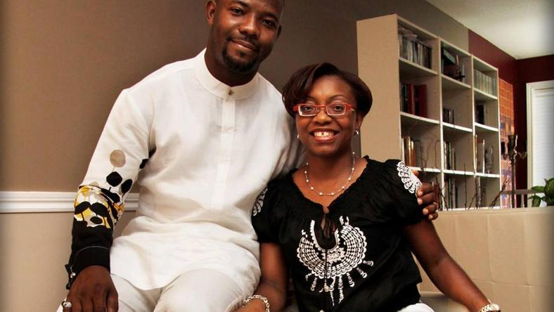 Okey Bakassi and wife, Ezinne