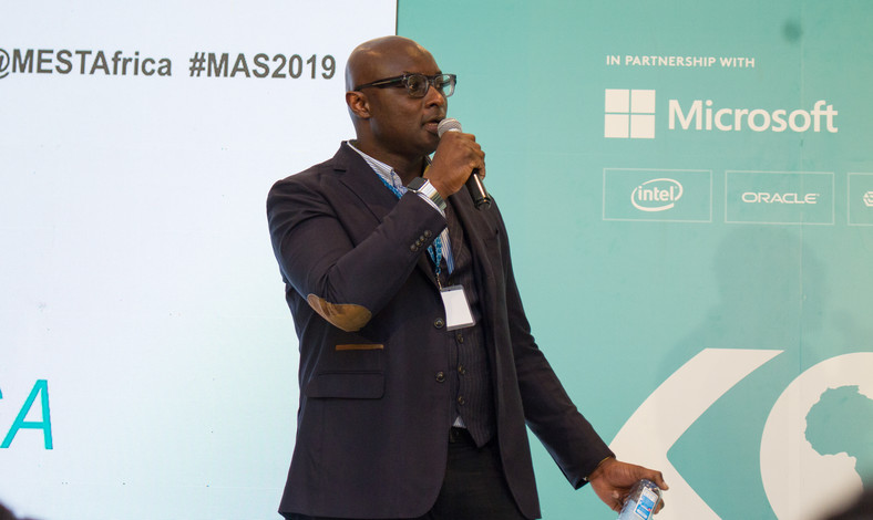 Microsoft's Chris Lwanga speaking during the fourth MEST Africa Summit, in partnership with Microsoft.