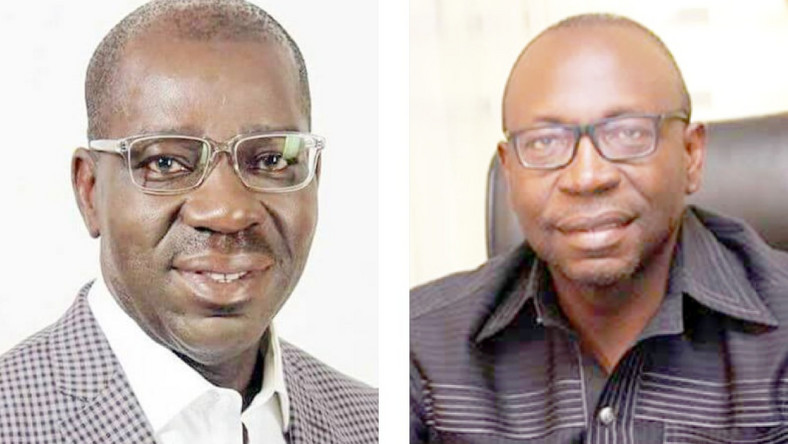 Governor Godwin Obaseki (left) and Osagie Ize-Iyamu (right) are the latest to benefit from a very disruptive feature of Nigerian politics [Daily Trust]