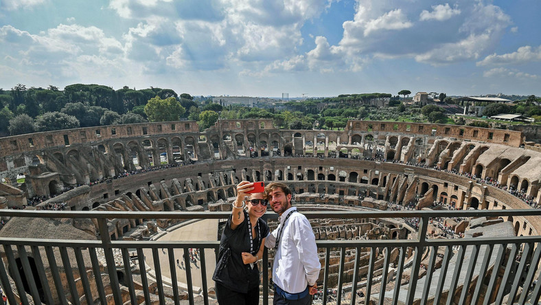 ITALY TOURISM COLOSSEUM (Inauguration of the new Colosseum visit)