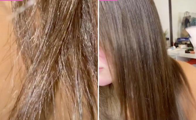 Evo kako kosa izgleda pre i posle tretmana pirinčanom vodom