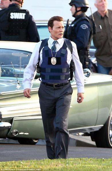"""Johnny Depp na planie filmu """"LAbyrinth"""""""