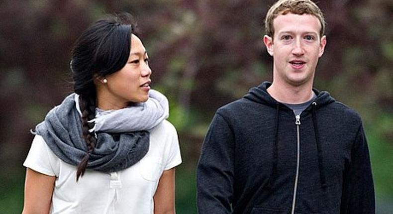 Mark Zuckerberg and his wife Priscilla Chan.