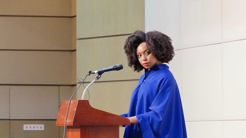 Chimamanda Adichie says she won't shut up as she continues to advocate for feminism globally. [Instagram/ChimamandaAdichie]