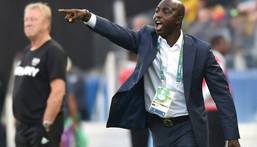 Samson Siasia was in charge of the Nigeria team during the 2016 Olympics in Rio Creator: NELSON ALMEIDA