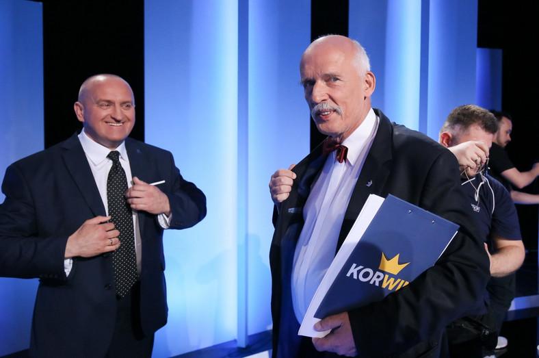 Kandydaci na urząd prezydenta Marian Kowalski i Janusz Korwin-Mikke