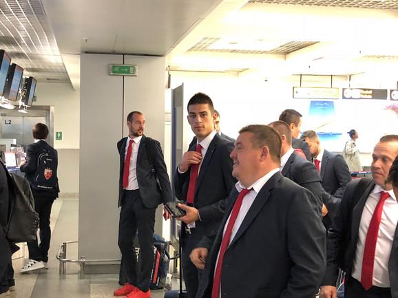 Vujadin Savić na aerodromu