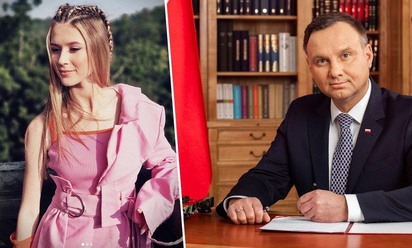 Andrzej Duda polubił nowe zdjęcie Roksany Węgiel.