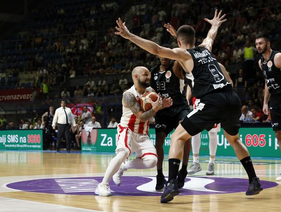 Filip Čović na trećem meču Zvezda - Partizan u finalu Superlige