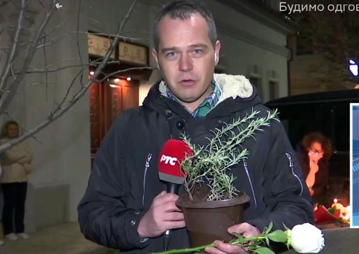 Reporter plače
