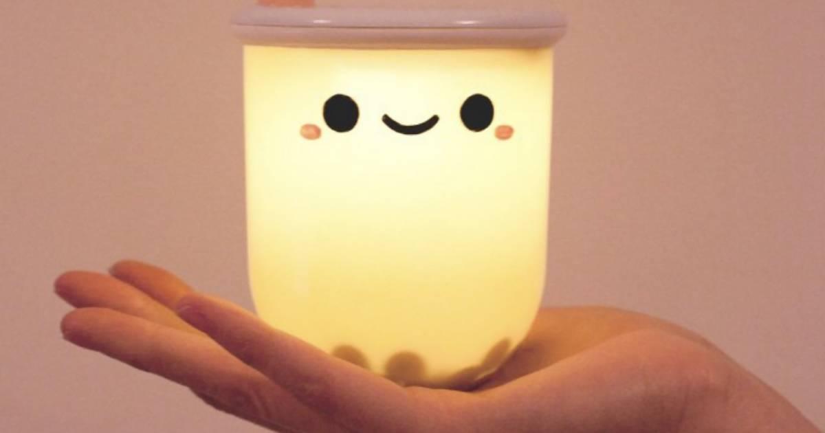 Es gibt jetzt Bubble Tea, der leuchtet – für deinen Nachttisch