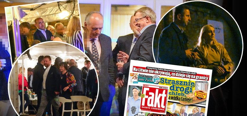 Zamiast pracować w Sejmie, balowali na imprezie. Śmietanka polityczna na urodzinach znanego dziennikarza [unikalne zdjęcia]