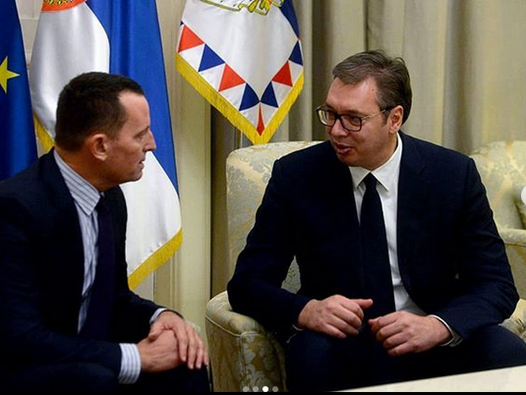 Aleksandar Vučić, Ričard Grenel