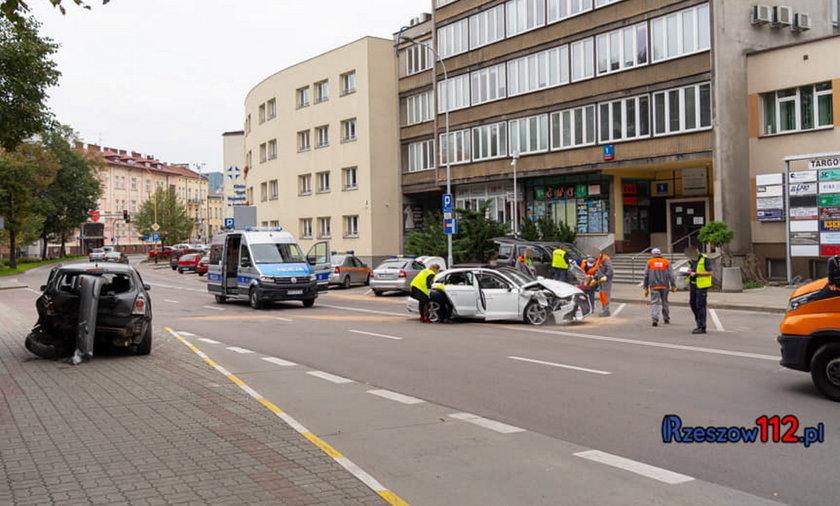 Sprawcą kolizji w Rzeszowie był policjant.