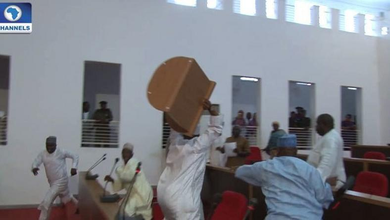 Nasarawa state House of Assembly members in a fight