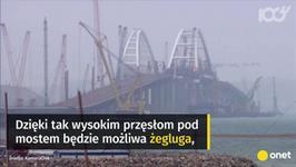 """""""Most Putina"""" niedługo połączy Krym z Rosją"""