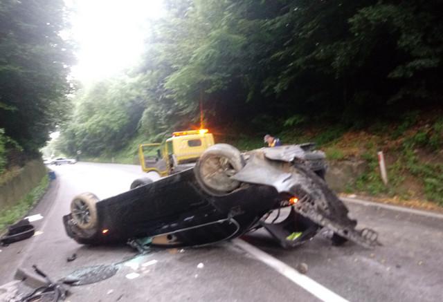 Detalj sa mesta nesreće u kojoj je povređen Ognjen Kuzmić