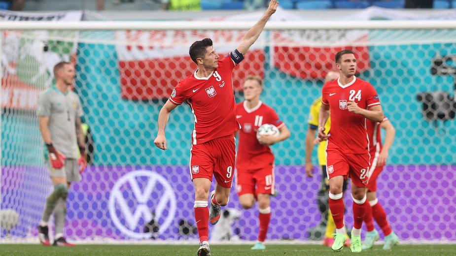 Robert Lewandowski w barwach reprezentacji Polski