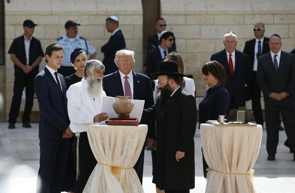 ISRAEL USA DIPLOMACY (US President Trump in Israel)