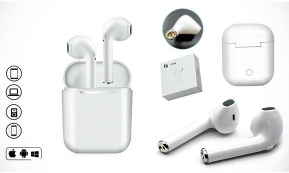 Elegantne bele I9 bežične bluetooth slušalice