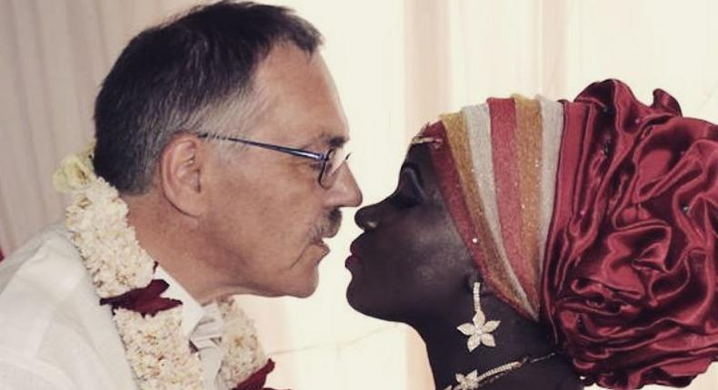Singer Nyota Ndogo and her Hubby . Nyota has expressed her loneliness while her husband is away.