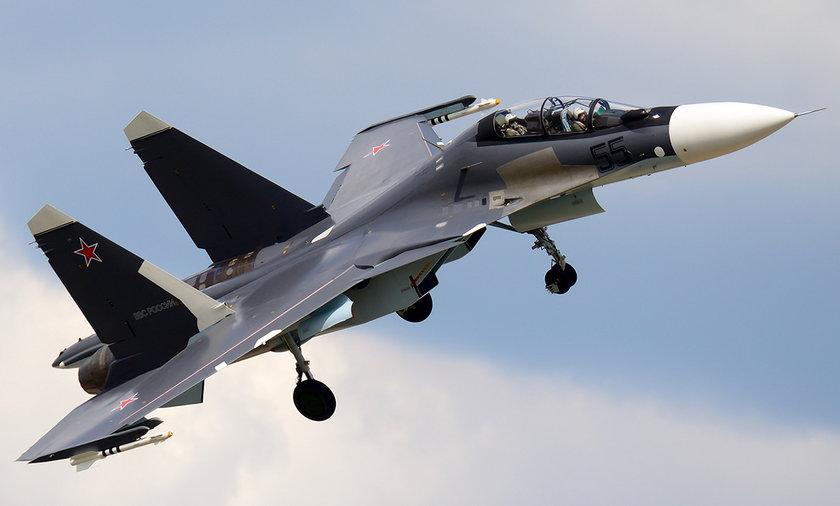 samolot myśliwiec rosyjski su-30sm