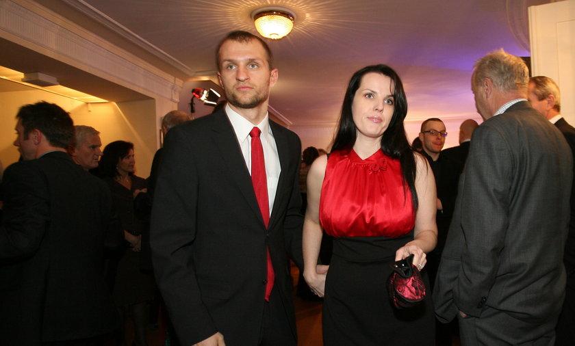 Jan Mucha z żoną Simoną jeszcze z czasów jego gry w Legii Warszawa