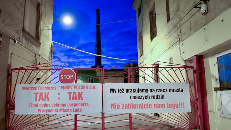 Protesty w trakcie budowy dworca Łódź Fabryczna