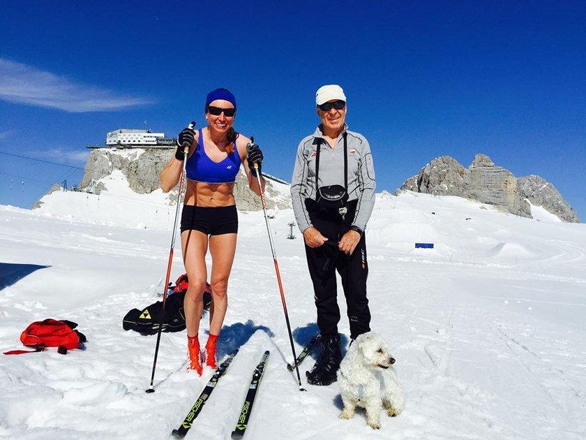 Justyna Kowalczyk na lodowcu