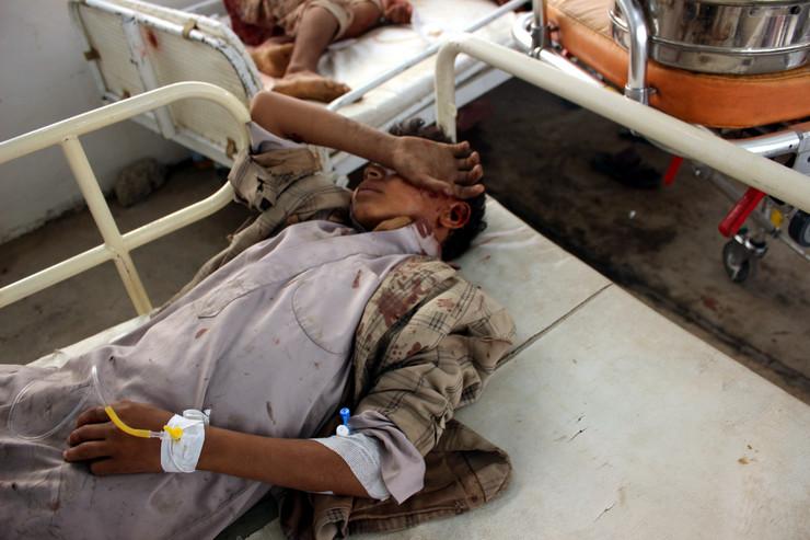 Jemen deca vazdušni napad EPA STRINGER