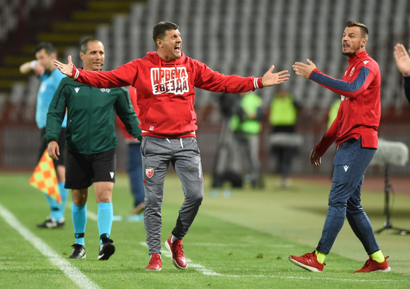 Trener Vladan Milojević na meču Crvena zvezda - Suduva
