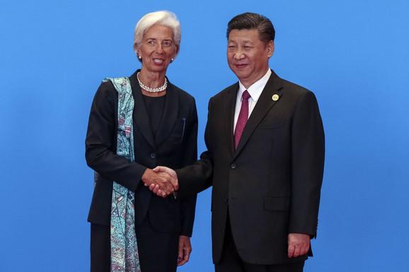 Šefica MMF Kristin Lagard sa kineskim predsednikom Si Đinpingom