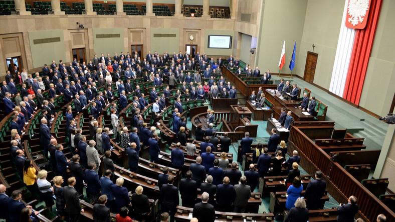 Sala plenarna w Sejmie