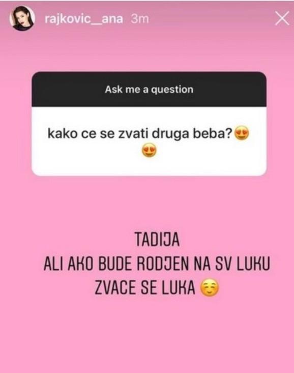 Ana Rajković Instagram