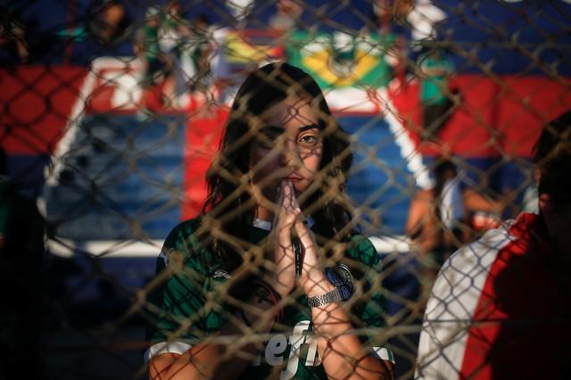 Navijačica u Brazilu na fudbalskom meču