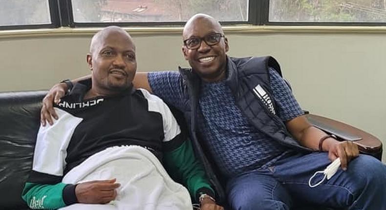 Gatundu South MP Moses Kuria with Jimi Wanjigi