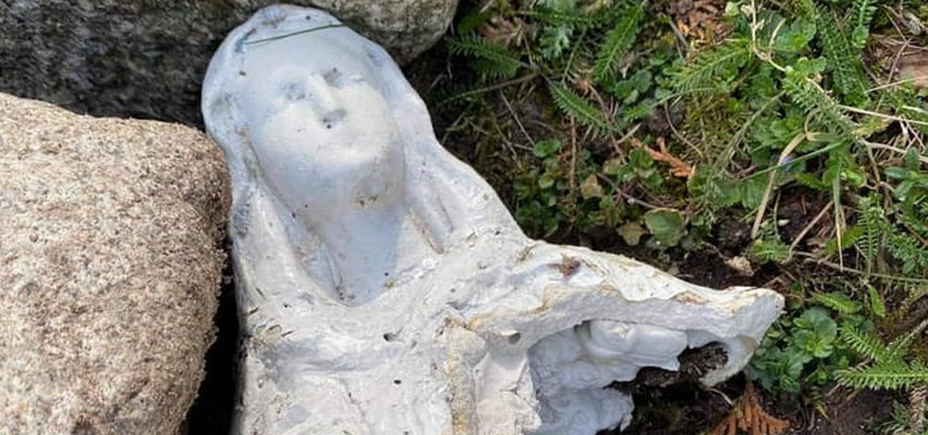 W Koszalinie wandale zniszczyli figurę Matki Bożej, którą parafii ofiarował były więzień obozu koncentracyjnego