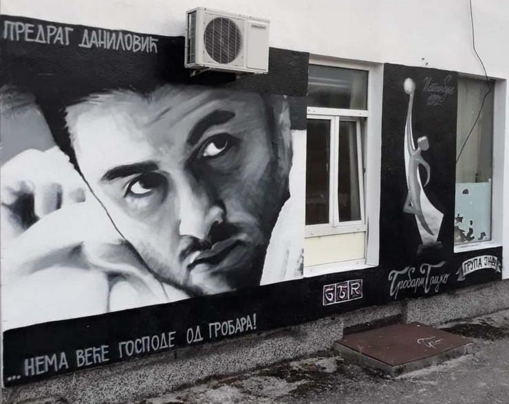 Mural posvećen Predragu Daniloviću