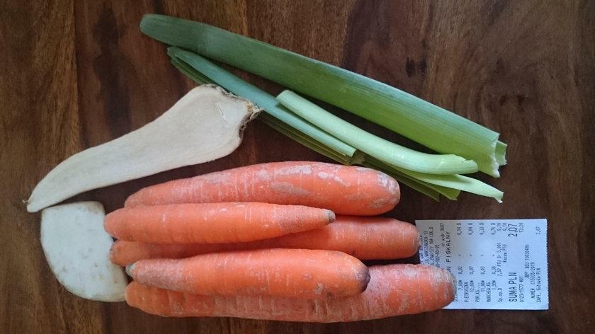 Zestaw warzyw na wywar do zupy