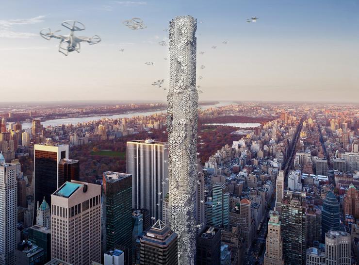 Neboderi i parking za dronove, kako će izgledati zgrade u budućnosti