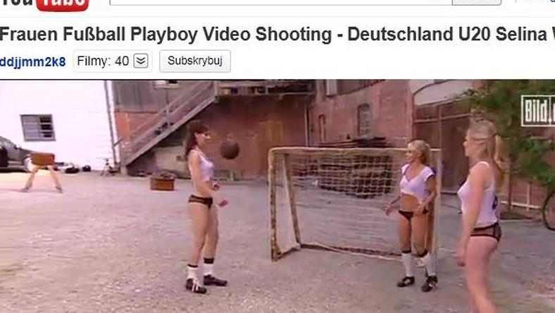 """Niemiecki piłkarki podczas sesji dla """"Playboya"""""""