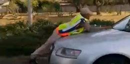 Szokujące sceny na drodze. Kierowcy przecierali oczy. WIDEO