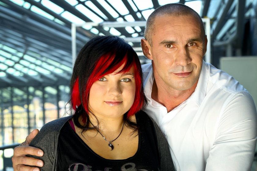 Przemysław Saleta z córką Nicole