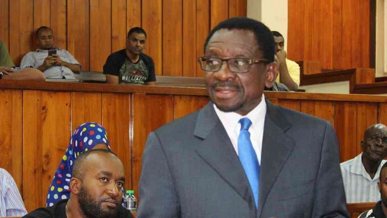 Senator James Orengo during a past presentation in court