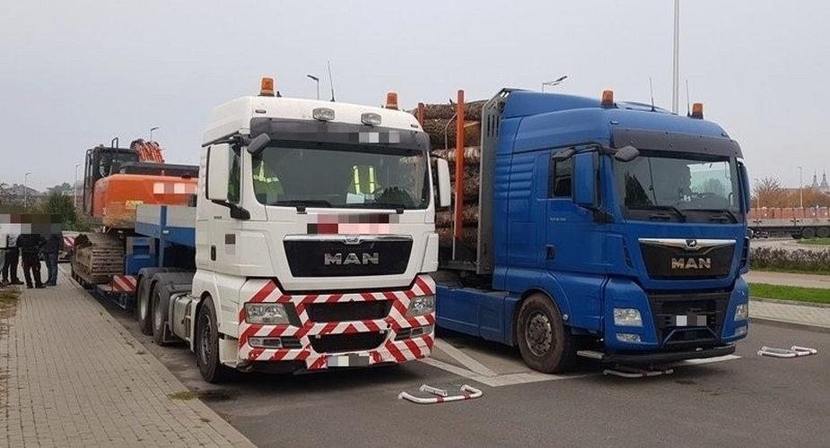 Przeciążone ciężarówki zatrzymane w Piotrkowie Trybunalskim