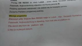 """""""Etenszyn plis"""" - komiczna instrukcja dla lektorów na dworcu w Szczecinie"""