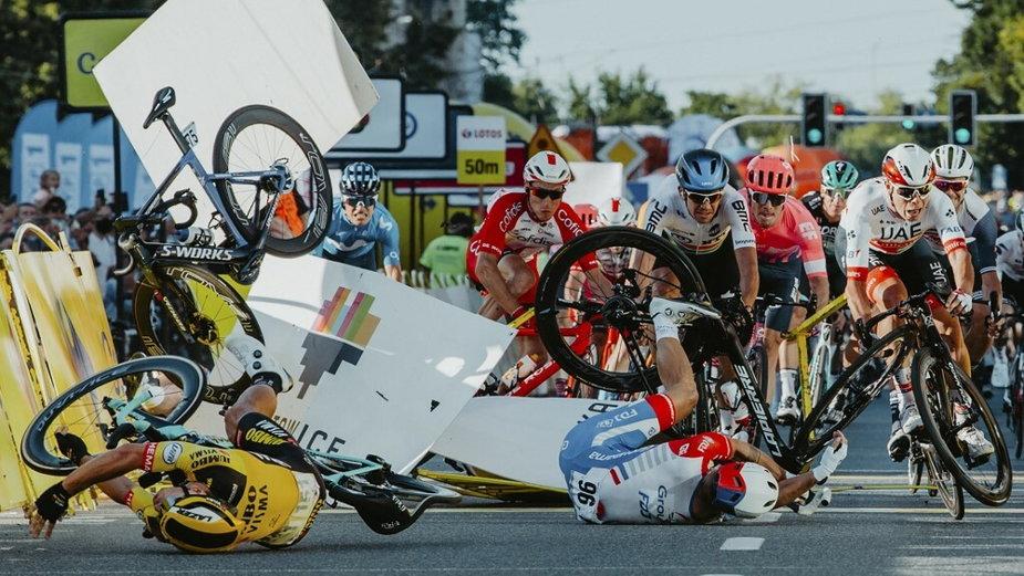 Wypadek, w którym ucierpiał m.in. Fabio Jakobsen