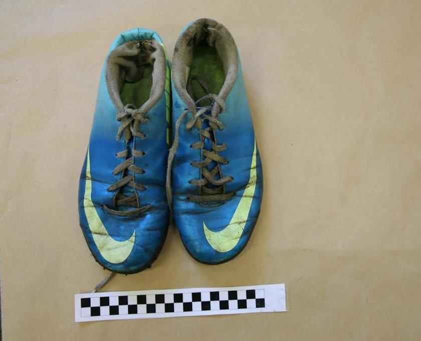 Buty poszkodowanej